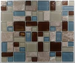 puzzle pattern stone u0026 glass glass tile home