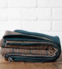 Brown And Teal Home Decor Brown Plaid U0026 Teal Wool Blanket Home Decor U0026 Lighting Local