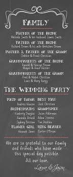 chalkboard wedding program template best 25 wedding program inspiration ideas on wedding