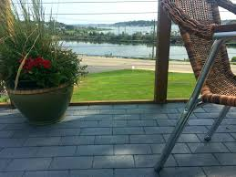 Roof Patio by Harbour House Restaurant At Mystic Inn Eagle Rivet Roof Service
