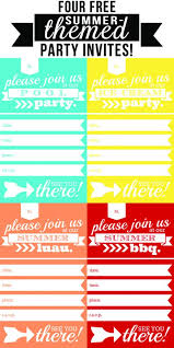 free summer party invitation templates pool party invites free