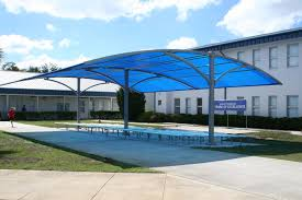 Outdoor Net Canopy by Outdoor U0026 Landscaping Extravagant Curved Blue Canopy Roofing As
