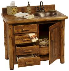 sawmill camp rustic vanity rustic outhouse bathroom cabinet tsc