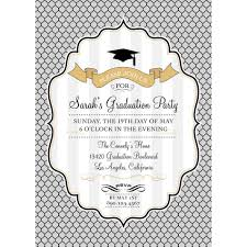 fancy senior high school graduation invitation template collection