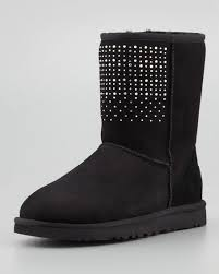 ugg s boots black ugg australia bling studded boot black