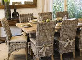 wicker kitchen furniture rustic dining table and wicker parsons chairs parsons chairs for