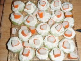 recette canapé apéro apéro léger surimi concombres les recettes d