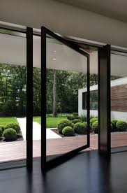 Glass Front House Plain Modern Glass Front Door With Insert And Decorative Stonework