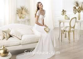 Chiffon Wedding Dresses Slim Mermaid Sweetheart Open Back Short Sleeve Lace Chiffon