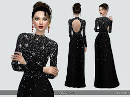 foryou elegant and classy long black dress by paogae at tsr sims