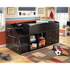 amazon com embrace youth twin loft bed with trundle kitchen u0026 dining