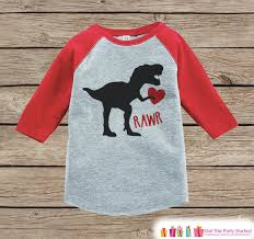 valentines shirts dinosaur heart raglan s day t shirts for kids