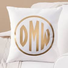 gold monogram personalized gold monogram throw pillow walmart
