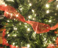 how to decorate a christmas tree with wide mesh ribbon the