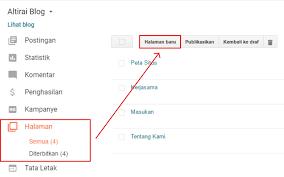 blogger atau blogspot cara membuat halaman peta situs di blogger altirai blog