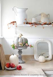 Fall Kitchen Decor - simple fall decorating in the kitchen town u0026 country living