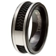 men s two tone titanium rubber inlay band wedding ideas