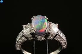 black opal engagement rings black opal wedding rings black opal and diamond ring kubiyige info