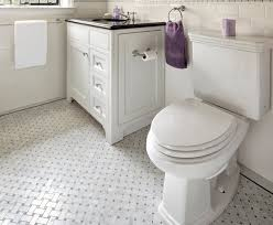 retro black white bathroom ceramic tile flooring on white