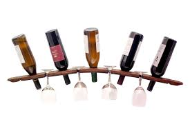 barrel stave wall wine rack o u0027floinn decor