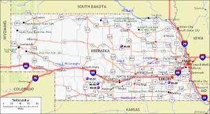 road maps of the united states nebraska map