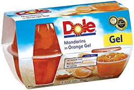dole fruit bowls buy dole fruit bowls mandarins in orange gel 4 3 oz cups 6 pack