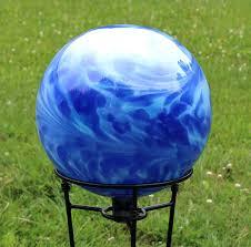 12 Inch Glass Gazing Balls Amazon Com Montana Blue Water Blue Over Opal Gazing Ball 12