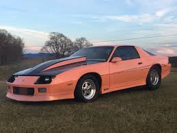 peach car bangshift com just peachy this 1982 chevrolet camaro pro street