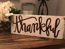 personalized signs for home decorating wood sign rustic thankful sign rustic fall sign home
