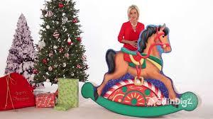 santa u0027s workshop rocking horse standee party supplies shindigz