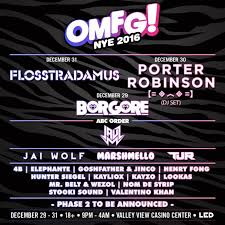 led new years led releases phase 1 of omfg nye lineup edmtunes