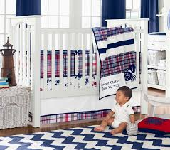 Plaid Crib Bedding Plaid Baby Bedding Cool Boy Crib Bedding In Solid Navy Patchwork