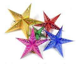 aliexpress com buy colorful laser paper christmas star