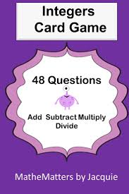 211 best teaching integers images on pinterest integers math