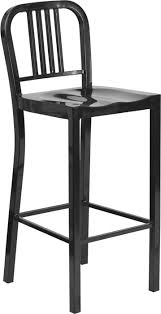 Black Metal Bar Stool Outdoor Colorful Powder Coated Metal Bar Stool 30 Inch Seat