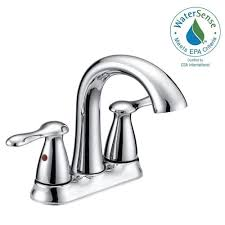 delta classic 4 in centerset 2 handle bathroom faucet with centerset 2 handle bathroom faucet in chrome with pop up