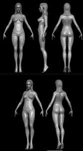 Female Body Reference For 3d Modelling Always Stuck When Modeling Female Warning