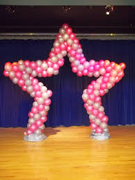 stage or entrance star shape spiral balloon arch balloon arch