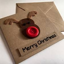 rudolph the reindeer handmade card skelter