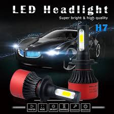 le h7 led 2x h7 canbus cob car led headlights bulb fog light 16000lm 6500k