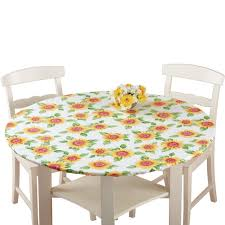 Fitted Round Tablecloth Amazon Com Fitted Elastic No Slip Fit Table Cover With Soft