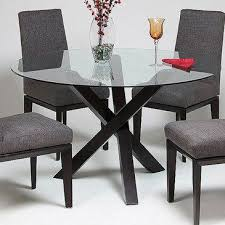 dining room glass top round dining table home interior design