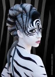 Black White Striped Halloween Costume 45 Examples Diy Halloween Makeup White Face Paint Halloween