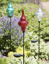solar garden stakes finial outdoor ornaments