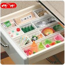 4pcs expandable grid drawer divider case organizer tray closet