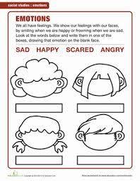 resultado de imagen para feelings worksheets for kindergarten pdf
