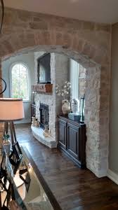 stone veneer fireplace and archway profiles country ledge