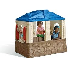 kids outdoor playhouse backyard fort cottage play kitchen sink