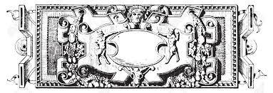ornament renaissance sculpture vintage engraved illustration