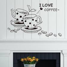 i love coffee cup and coffee beans window wall sticker home decor